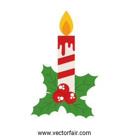 merry christmas candle icon isolated