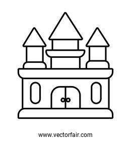 castle air mechanical fairground attraction line style icon