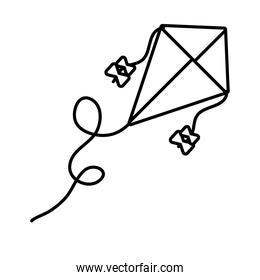 kite flying toy line style icon