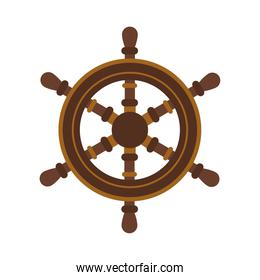 wooden boat rudder flat style icon