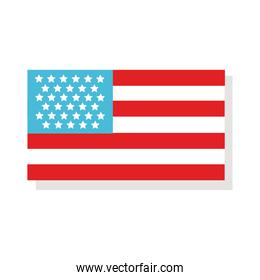 united states of america flat style icon