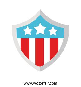 shield with usa flag flat style icon