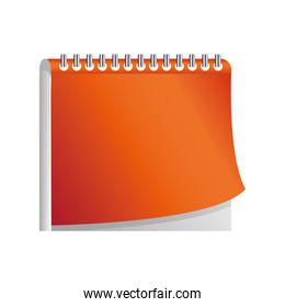 daily planner notebook on white background