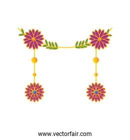 decorative garland of the indian festival