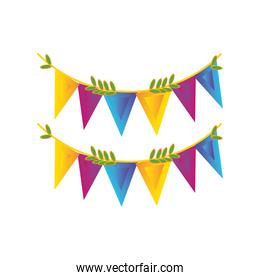decorative garland of the indian festival on white background