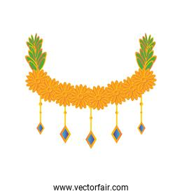 decorative garland of the indian festival in white background