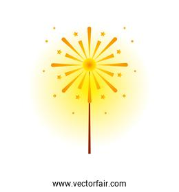 firework detailed style icon vector design