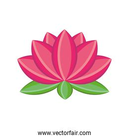 lotus flower detailed style icon vector design