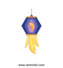 Indian lantern detailed style icon vector design