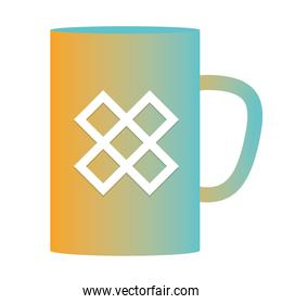Isolated mockup coffee mug vector design