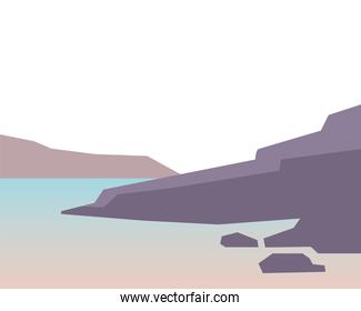 Isolated beach landscape vector design