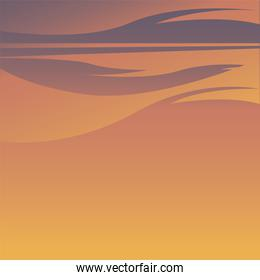 orange sky background vector design