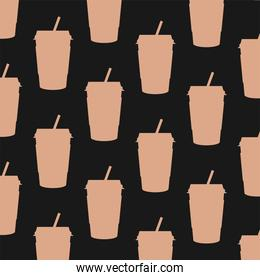 coffee mugs background vector design
