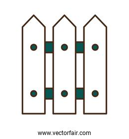garden fence line and fill style icon vector design