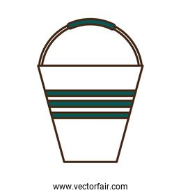 garden water bucket line and fill style icon vector design