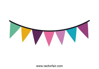 Party banner pennant vector design