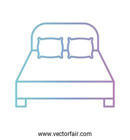 home bed gradient style icon vector design