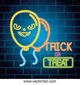 halloween neon with scary balloons helium decoration