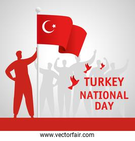 29 october republic day turkey with person holding flag