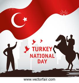 29 october republic day turkey, with persons and flag