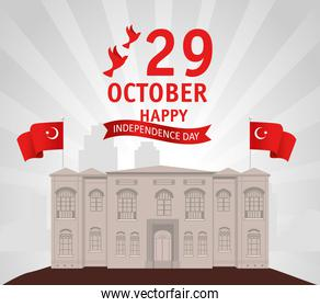 29 october republic day turkey with the grand assembly