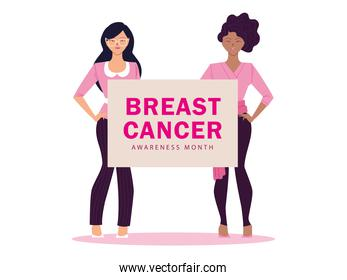 breast cancer awareness month with women