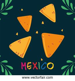 label mexico with mexican food, poster