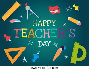 happy teachers day, poster, brochure, banner and greeting card