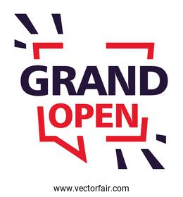 grand open, we are working again