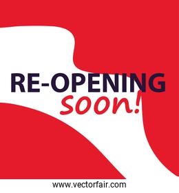 re opening soon, we are working again