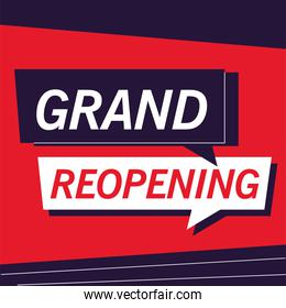 grand reopening, we are working again