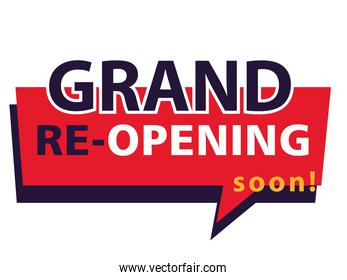 grand re opening soon, we are working again