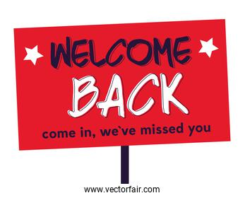 welcome back after pandemic, come in we ave missed you