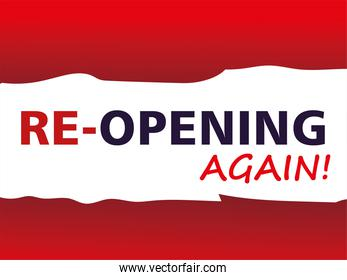 re opening again, welcome back after pandemic