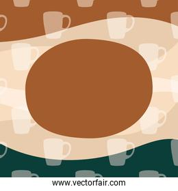 coffee mugs background with space for text vector design