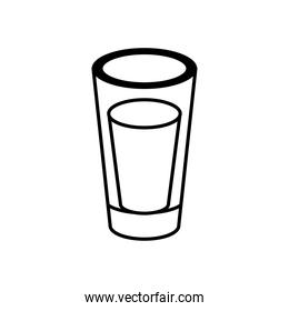 tequila cup mexican line style icon