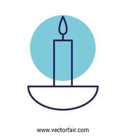 candle line style icon vector design
