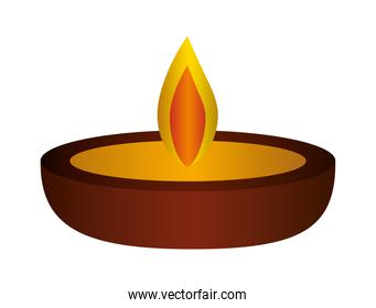 candle icon isolated