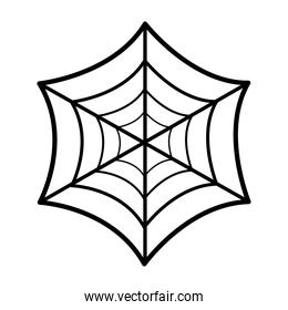 halloween spiderweb icon vector design