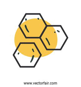 dna structure line and fill style icon vector design