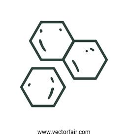 dna structure line style icon vector design