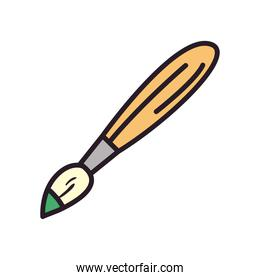 paint brush line and fill style icon vector design