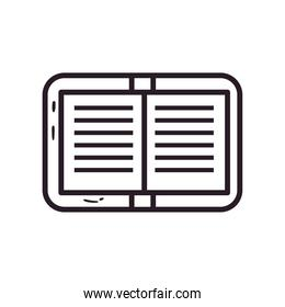 open book linear style isolated icon