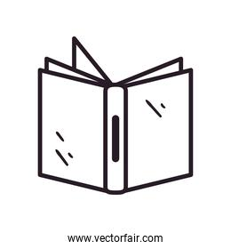 icon open book line style isolated