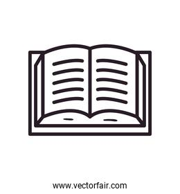 open book line style isolated icon