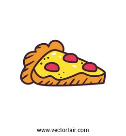 pop art pizza line and fill style icon vector design