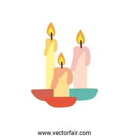 candles free form style icon vector design