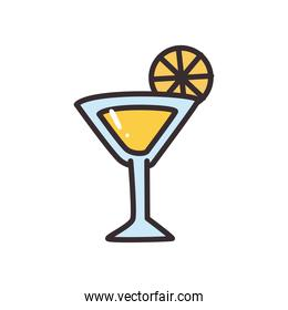 margarita cocktail line and fill style icon vector design