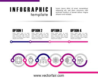 infographic template with statistics in white background