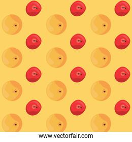 world food day poster with peach and cherries pattern